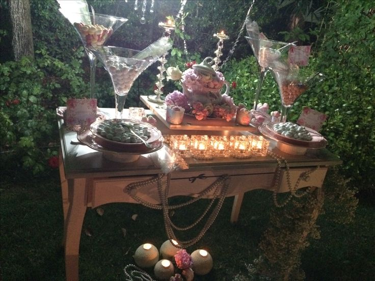 Allestimento confettata matrimonio in rosa con peonie tea party scenografie  #scenografiediserena