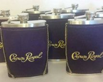 Crown Royal Flask Cover/Coozie Made From Crown Royal Bag with 8 oz Stainless Steel Hip Flask Groomsmen Gifts Stocking Stuffer    Etsy Dudes