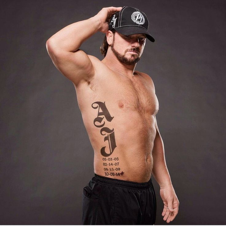 Aj styles; his tattoo is awesome