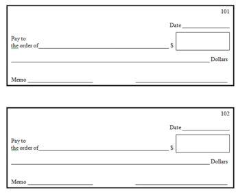 writing a check worksheet dadsworksheet