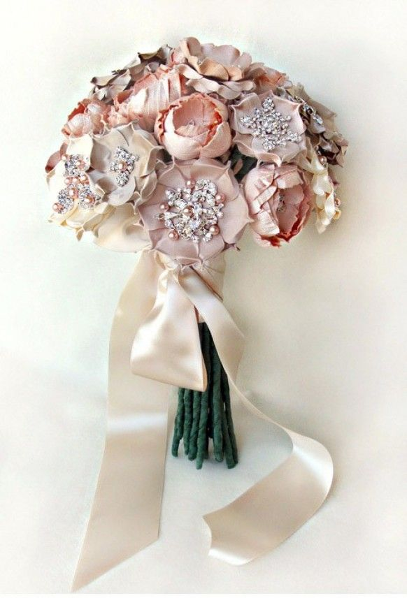 31 best DYI Silk Wedding Bouquets images on Pinterest | Bridal ...