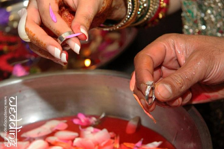 Hindu Wedding Fun And Games Indian Ceremony Rings Hands