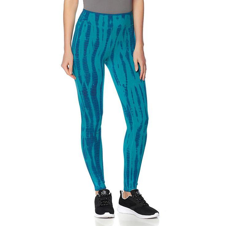 Warrior by Danica Patrick Tie-Dye Cotton-Spandex Legging - Turquoise Tie Dye