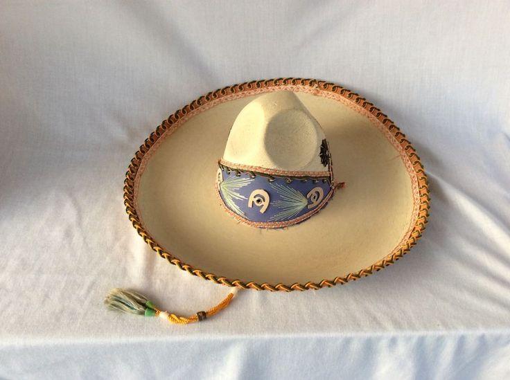Vintage Woven CALIDAD Mexican Sombrero Cowboy Hat Horseshoe Decor Vintage Mint #Calidad #Western