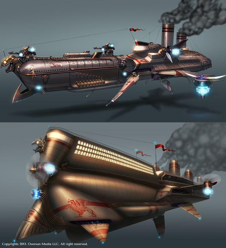 Steamliner «Hyperion». Site: http://a-megagame.ru/