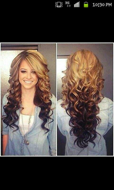 Peak a boo curls
