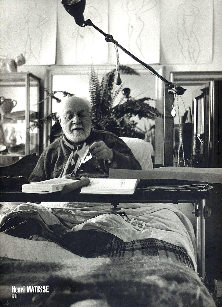 Henri Matisse dans son lit - 1951