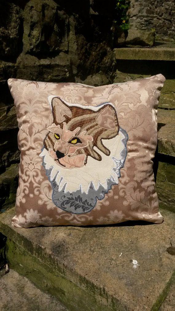 Grey Persian Cat Cushion Pillow Kitten Animal by ByeBrytshi