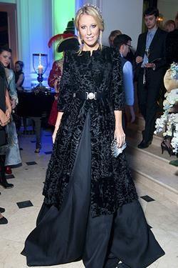 Черное кожаное платье ксении собчак