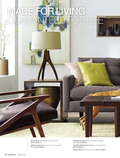 love the furniture and colors crate and barrel living room