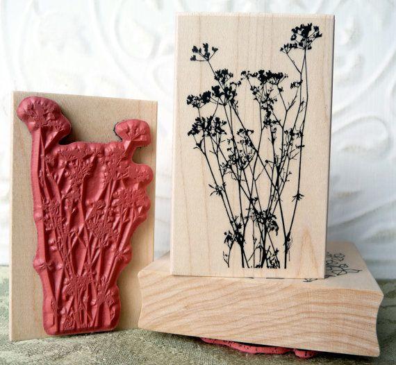 Flor de Perejil timbre de fleur par oldislandstamps sur Etsy