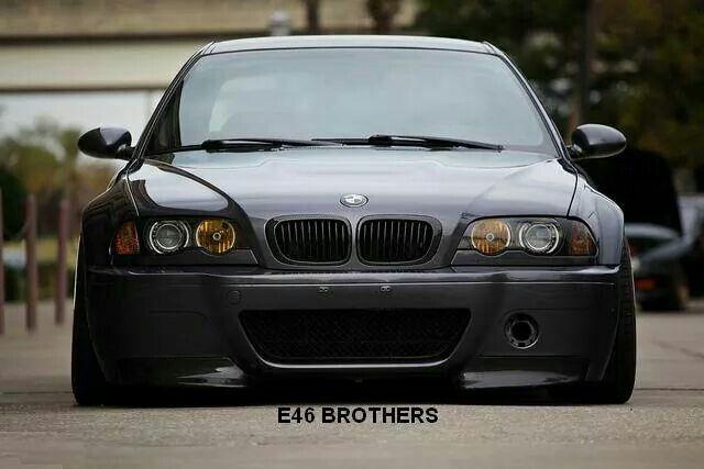 BMW E46 M3 grey slammed
