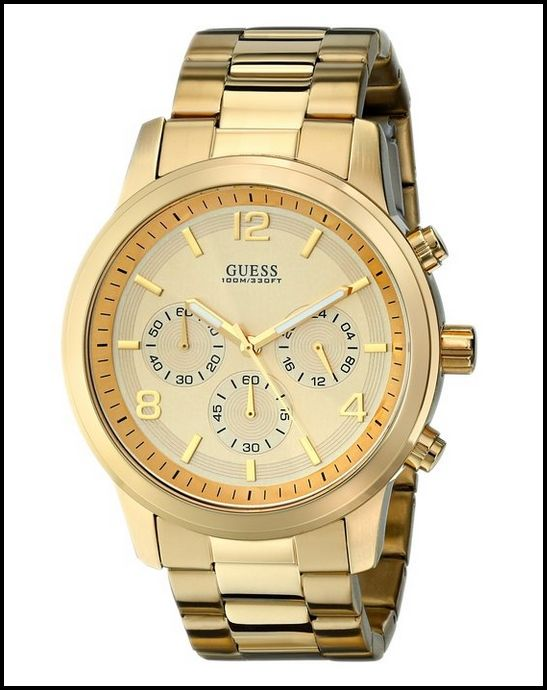 GUESS U15061G2 GOLD-TONE MEN'S CHRONOGRAPH WATCH