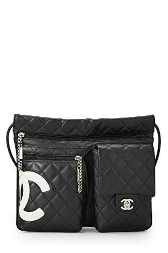 d6401cf20382 CHANEL Black Quilted Calfskin Cambon Ligne Shoulder Bag (Pre-Owned ...