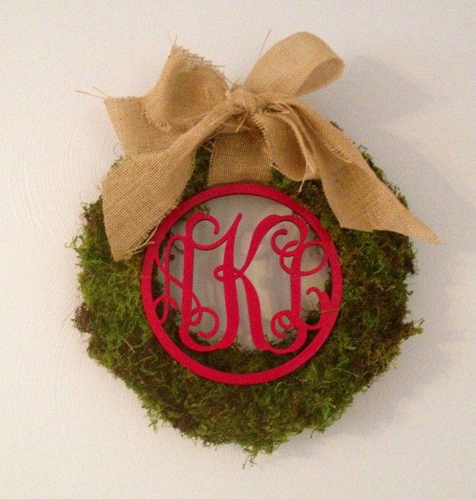 Monogrammed Wreath. #monogrammed #wreath #diy
