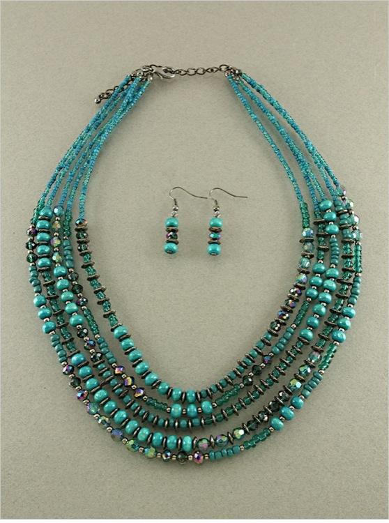 Paris Green Avery Necklace Set (photo only)