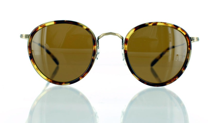 """Oliver Peoples MP2 : Designer round sunglasses - find this Great """"Glassby"""" look at Goo Goo Eyes 