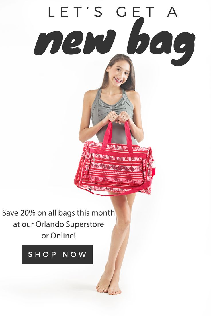 Dance Fashions Superstore Coupon Code - 20 off all bags in our orlando superstore