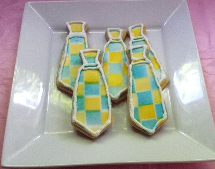 Sugar Cookie Tie covered in Royal Icing