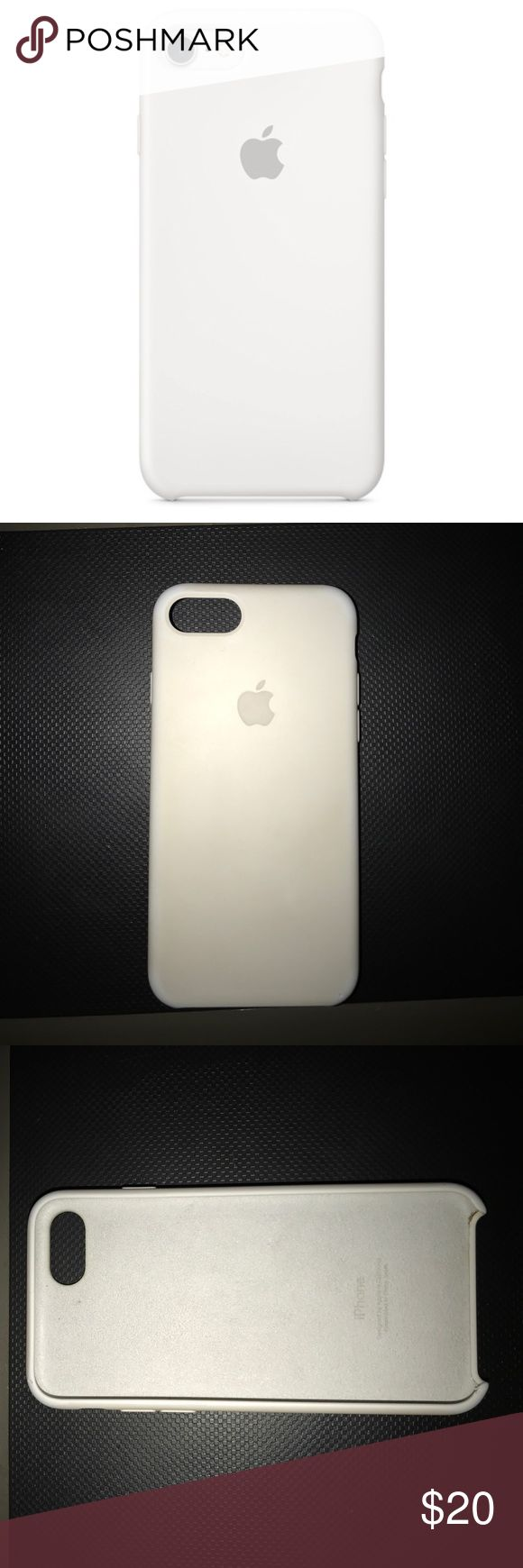 iPhone 7 Apple Silicon Case iPhone 7 apple white silicon case. Used but in good condition!!! Price is firm. Apple Accessories Phone Cases
