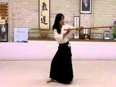 20 Jo Suburi Aikido Martial Arts Shomenuchi No Bu Ginny Breeland