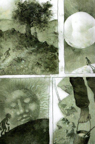 Pavel Čech, Dědečkové, Barevné album o rozsahu 68 stran obsahuje 8 příběhů beze slov, jejichž jednotící téma je zřejmé už z názvu.