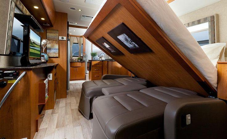 Leisure Travel Vans  The Murphy Bed Advantage  RV Beds