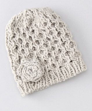 Loom Knit Flower Hat