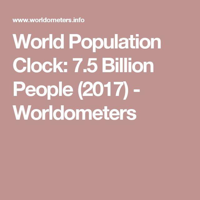 World Population Clock: 7.5 Billion People (2017) - Worldometers