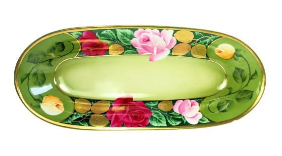 Very Nice, Vintage, ZS & C, Royal Munich, Hand Painted, Rose, Celery Dish.  Item: Celery Dish  Brand: Z S & C Royal Munich  Model: Rose Bowl  Material: Porcelain China  Dimensions: 12 x 5.25  Age: Mid Century  Theme: Rose Floral  Origin: Bavaria Germany  Condition: Excellent. No chips, cracks, breaks, or repairs.  Please See Photos.