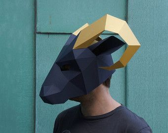 Panda Mask  Build your own animal mask from by Wintercroft on Etsy