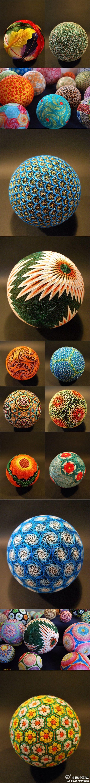手鞠球是一种民间艺术形式,起源于中国,并...