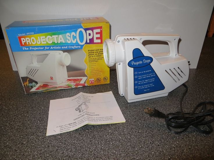 Projecta Scope PJ768 Magnifying Art Projector for Artists and Crafters In Box #Apco