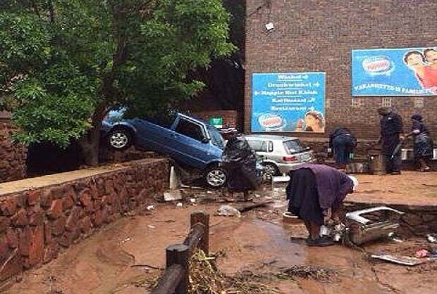 The BelaBela dam in Limpopo overflowed, causing havoc to