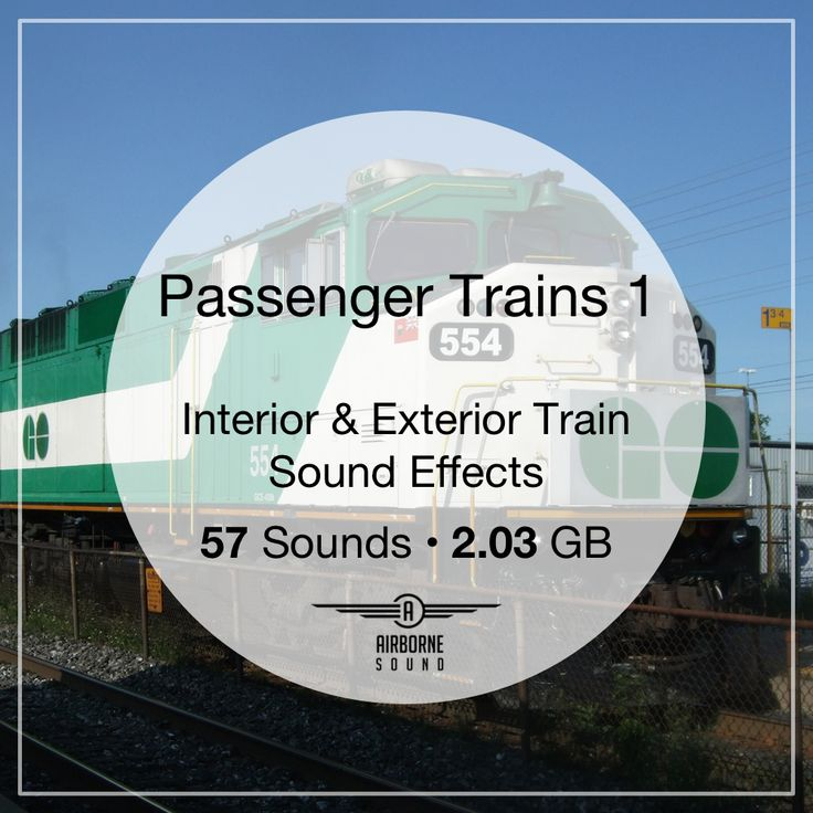 A collection of passenger and commuter train sound fx. 57 takes of interior and exterior locomotives and cars. #soundeffect #soundlibrary #train