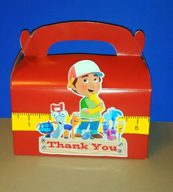 Inspired by Handy Manny and tools! Gable Boxes, QTY: 1, 6, 12 or 24 The perfect favor box for lots of fun goodies! Dimensions: 6 1/4 x