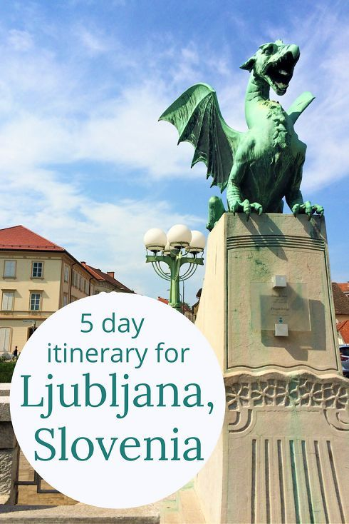 Adoration 4 Adventure's 5 day itinerary for Ljubljana, Slovenia, including day trips to Lake Bled, Predjama Castle, Skocjan Caves, Lipica, and Piran.