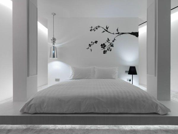 feng shui schlafzimmer einrichten farben weiß Schlafzimmer Ideen