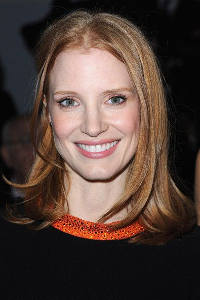 Jessica Chastain Medium Straight Cut
