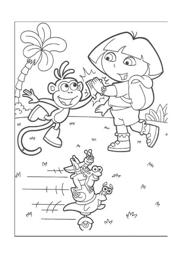 Dora the Explorer Coloring Pages 31