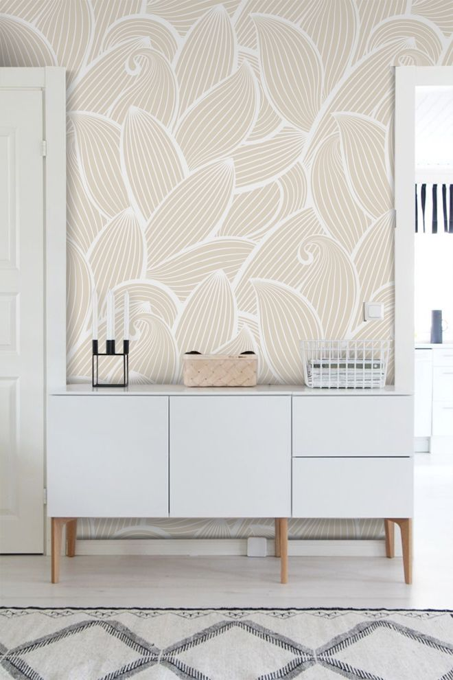 Lilly Of The Valley Removable Wallpaper Nice Modern Way To Decorate Your Interior Abstract Pattern Wall Wall Murals Wall Patterns Peel And Stick Wallpaper