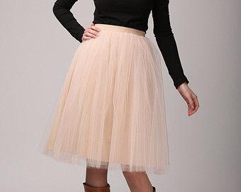 SHORT burgundy tulle skirt Light tulle skirt by Fanfaronada