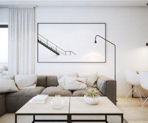 Ten projekt (62m2) jest przykładem tego, że wcale nie trzeba dużej powierzchni, aby urządzić stylowe mieszkanie. W tym przypadku zdecydowano się na styl skandynawski wzbogacony o marmurowe akcenty, które dodają wnętrzu prestiżu i elegancji.
