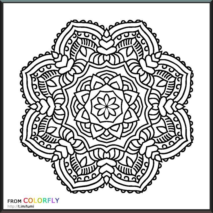 Coloring Colorfly Mandala Coloring Pinterest Coloring
