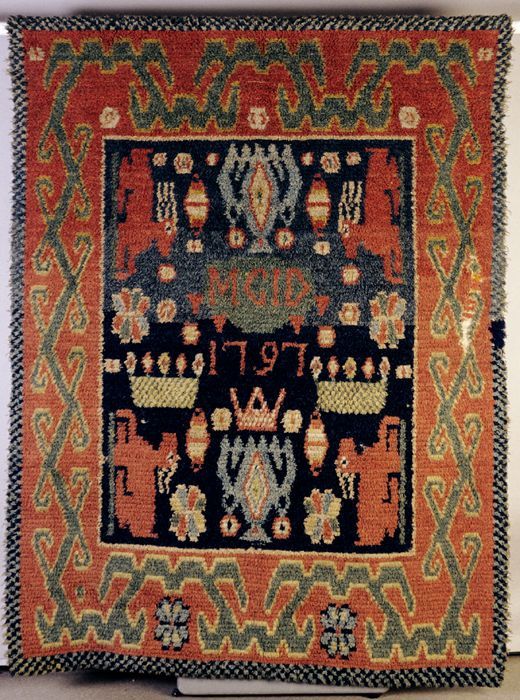 Rug with deer motifs, Halikko, 1797. (TMM / V.Kinnunen)