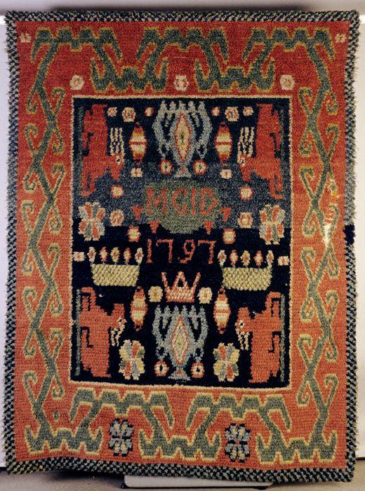 Rug with deer motifs, Halikko, 1797. (TMM / V.Kinnunen)