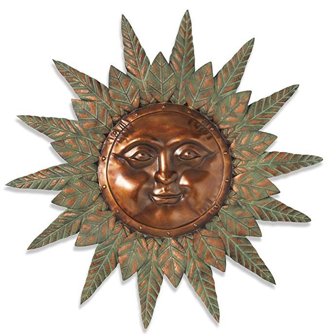 Premium Large 30 Beautiful Garden Sun Face Outdoor Patio Wall Hanging With Copper Face 30 Metal Face With Rustic And Wall Hanging Sunflower Wall Art Hanging