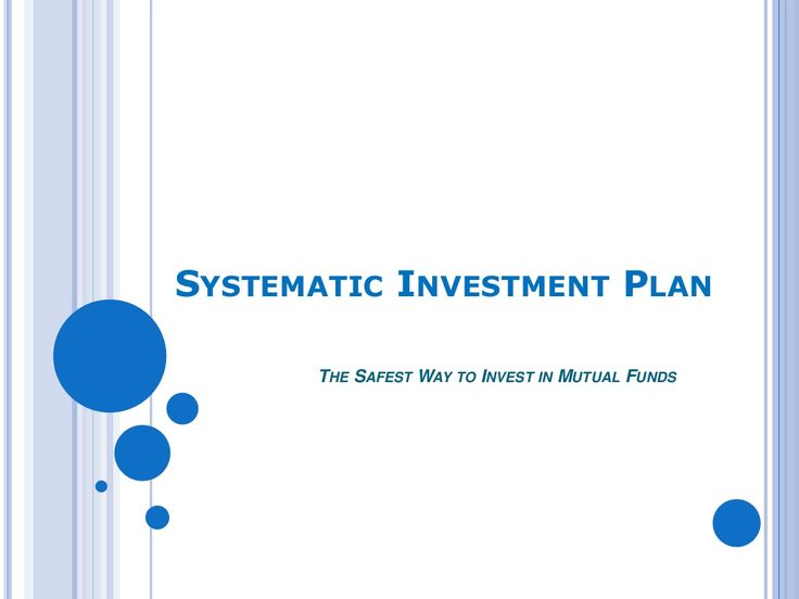 Systematic investment plan by Rahul saxsena via slideshare