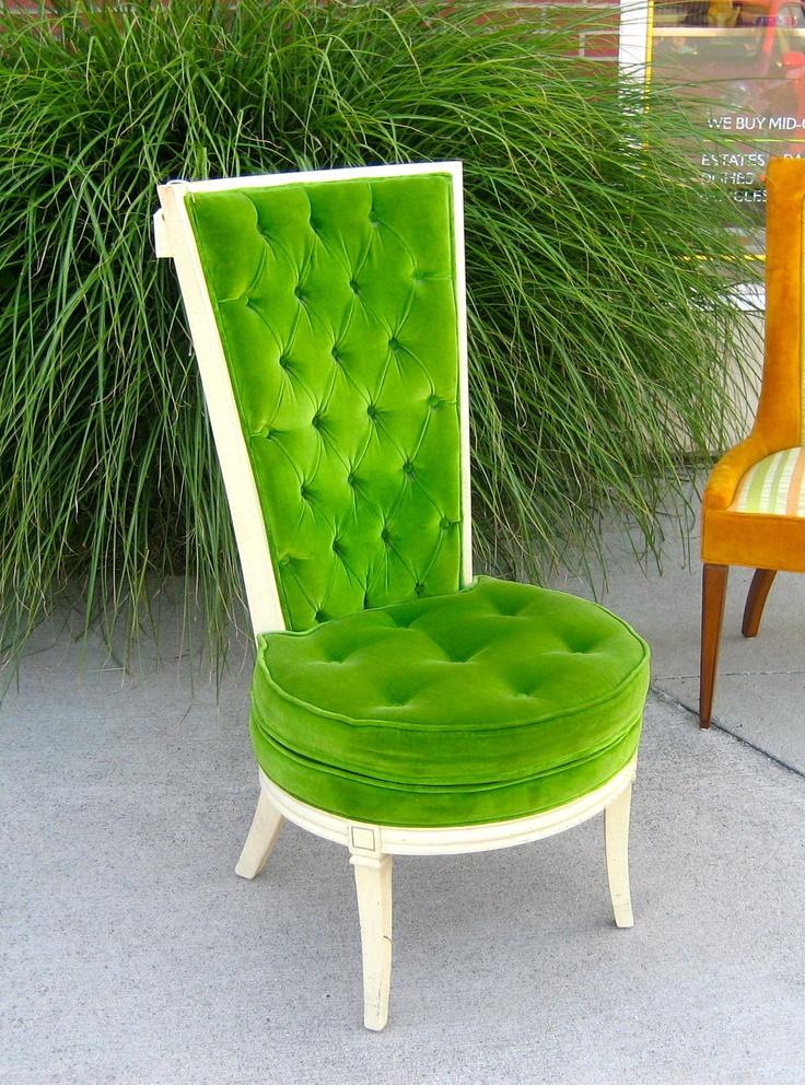 hollywood regency living room | Hollywood Regency Club Chair by BeaverdaleVintage on Etsy
