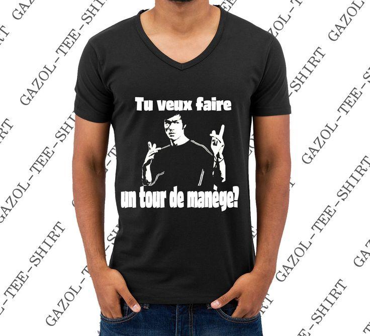 """T-shirt """"Tu veux faire un tour de manège?"""" tee-shirt Bruce Lee idée cadeau noel anniversaire homme de la boutique Gazol sur Etsy"""
